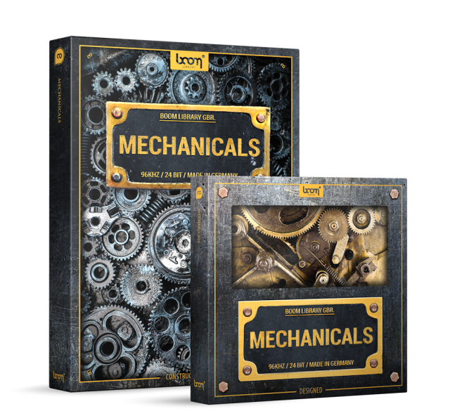Mechanical Sound Effects Library Product Box Mechanicals