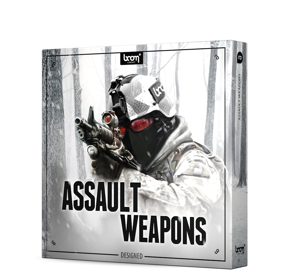 Assault Weapons Sound Effects Library Product Box