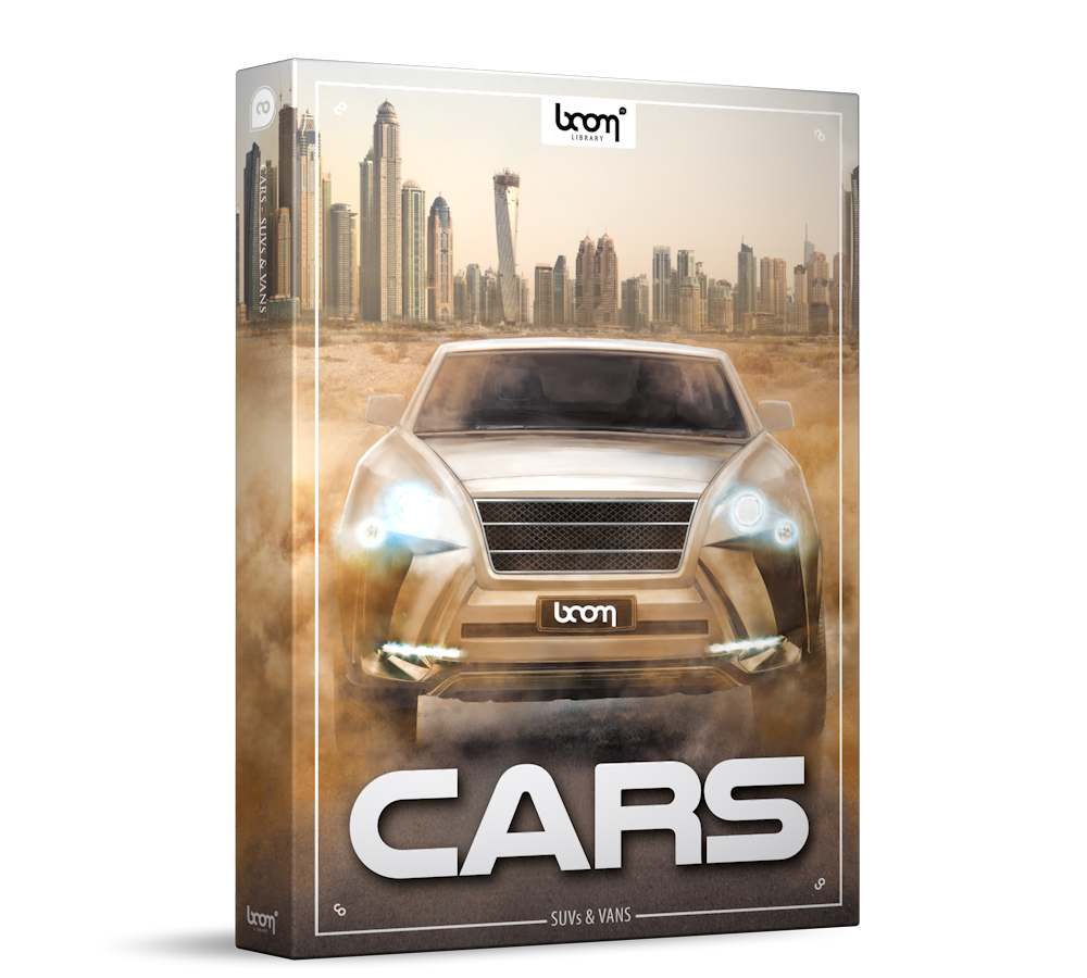 Cars SUVs and Vans Sound Effects Library Product Box
