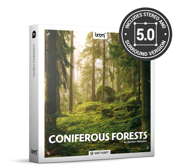 Coniferous Forests Nature Ambience Sound Effects Library Product Box