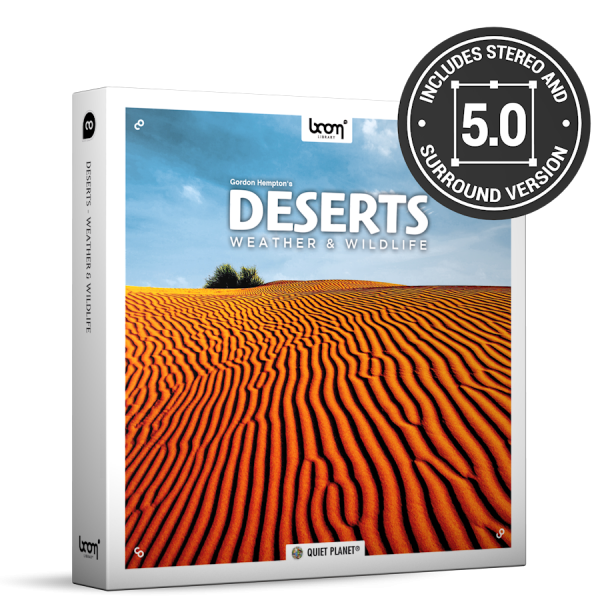 Deserts Nature Ambience Sound Effects Library Product Box