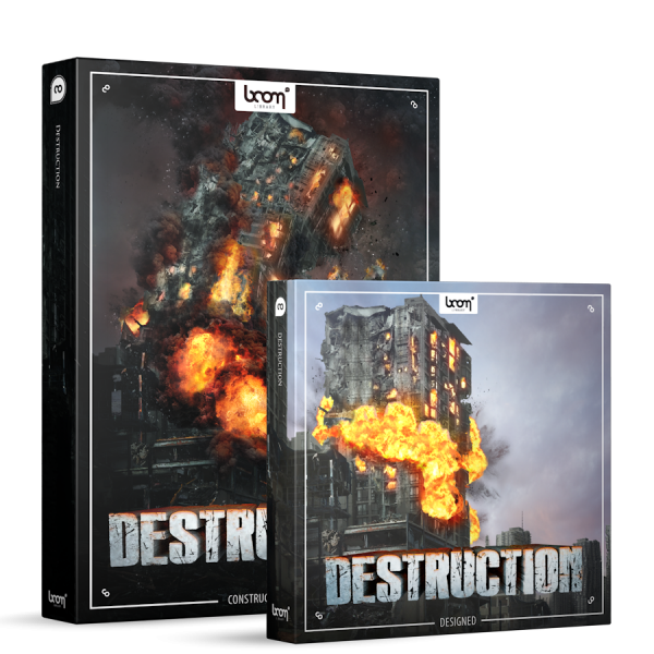 Destruction Sound Effects Library Product Box