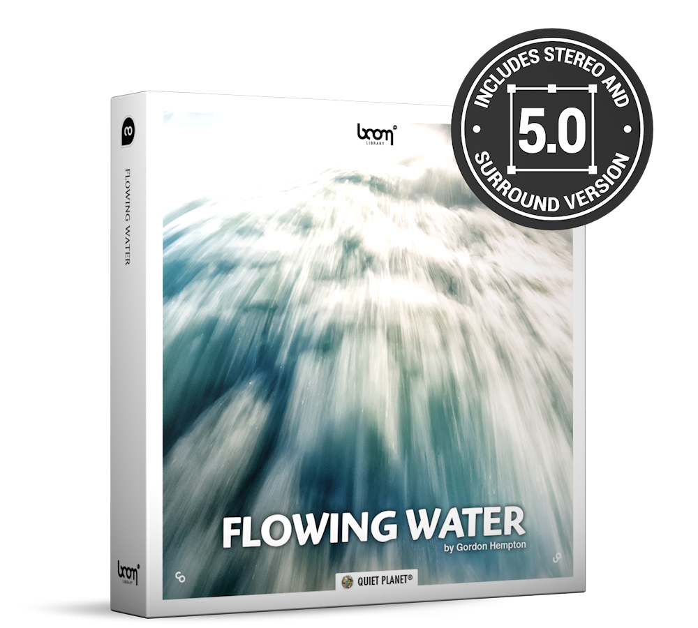 Flowing Water Nature Ambience Sound Effects Library Product Box
