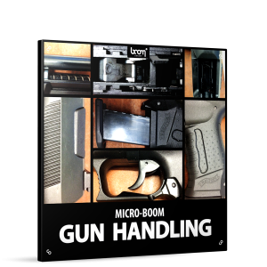 Gun Handling Sound Effects Library Product Box