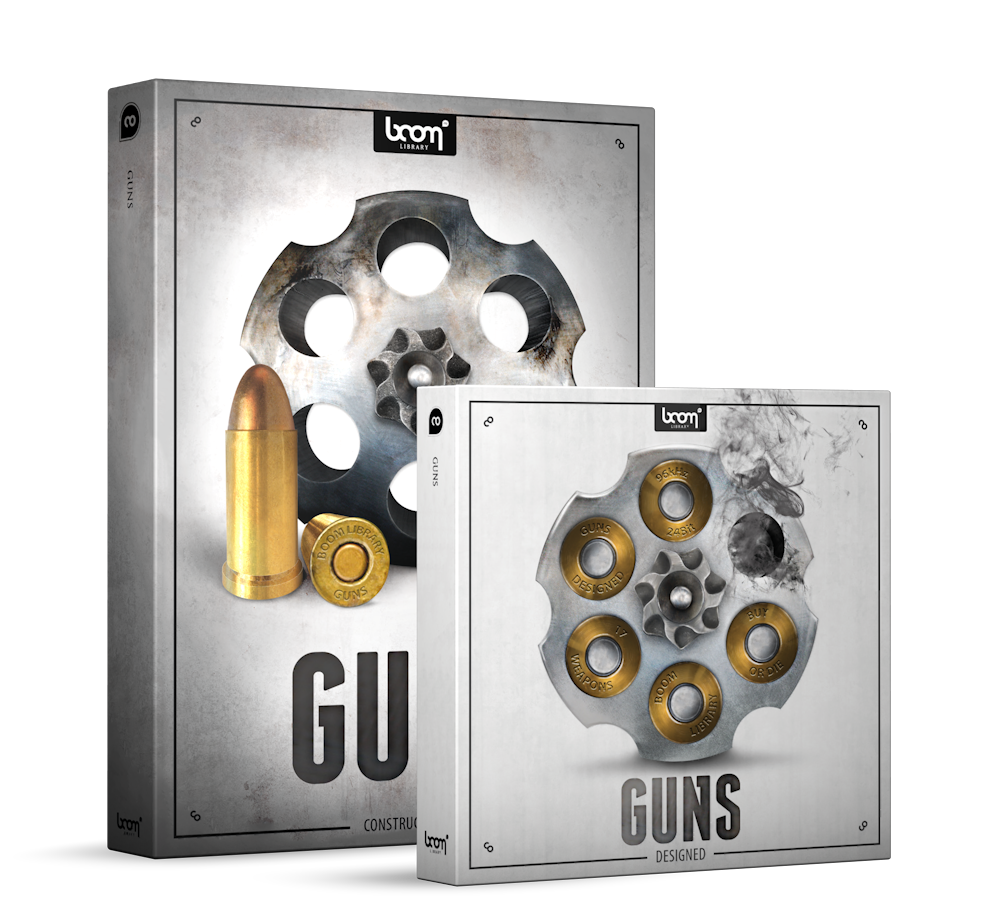 Guns Sound Effects Library Product Box - Gun Sounds