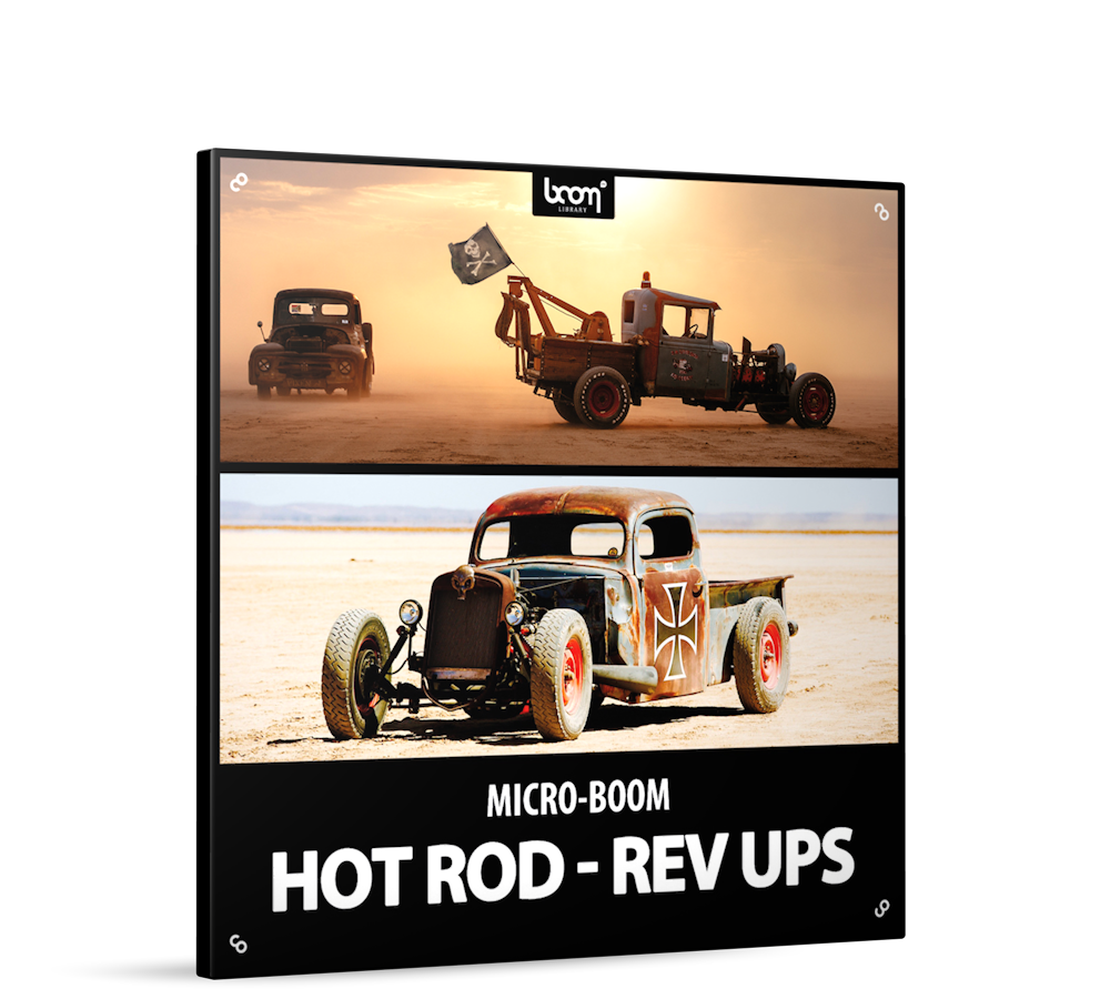 Hot Rod-Rev Ups Sound Effects Library Product Box