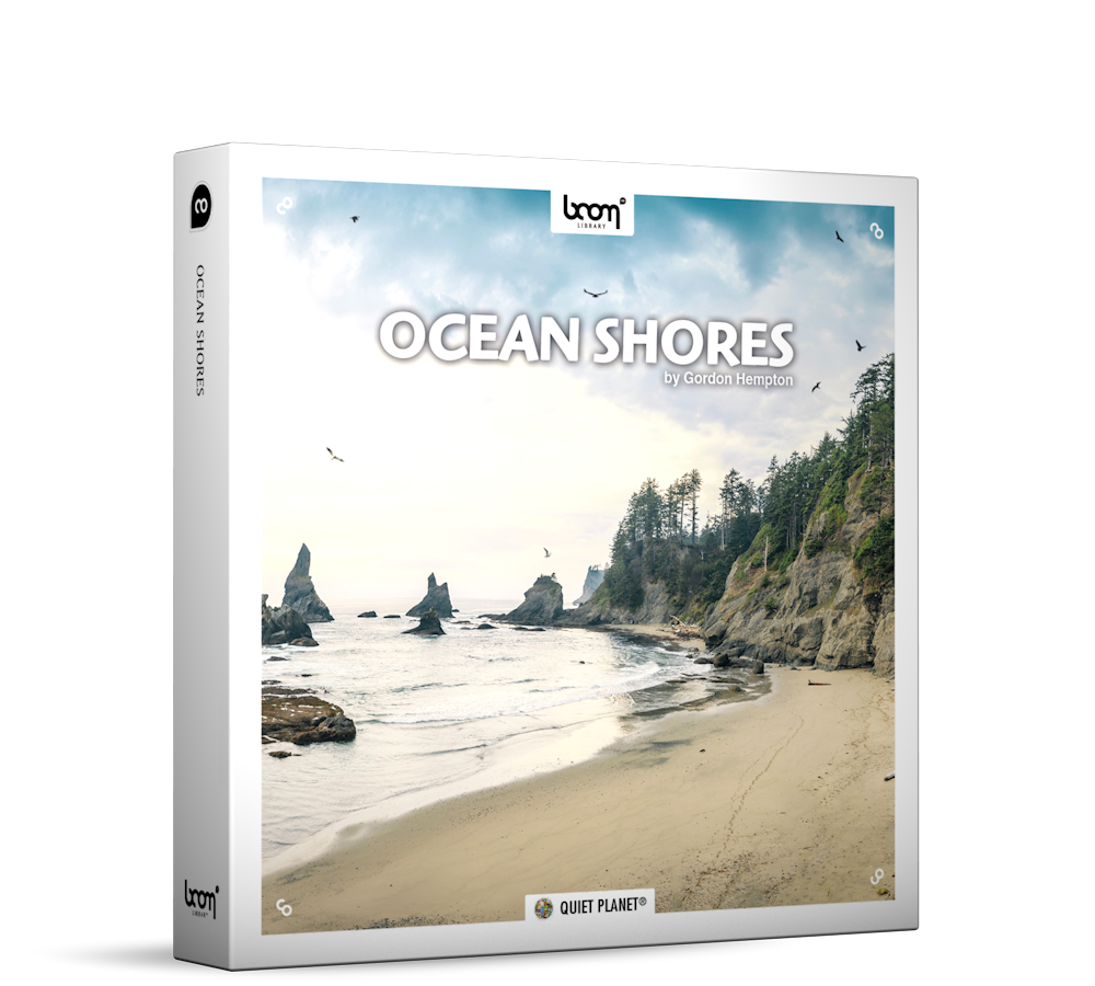 Ocean Shores Nature Ambience Sound Effects Library Product Box