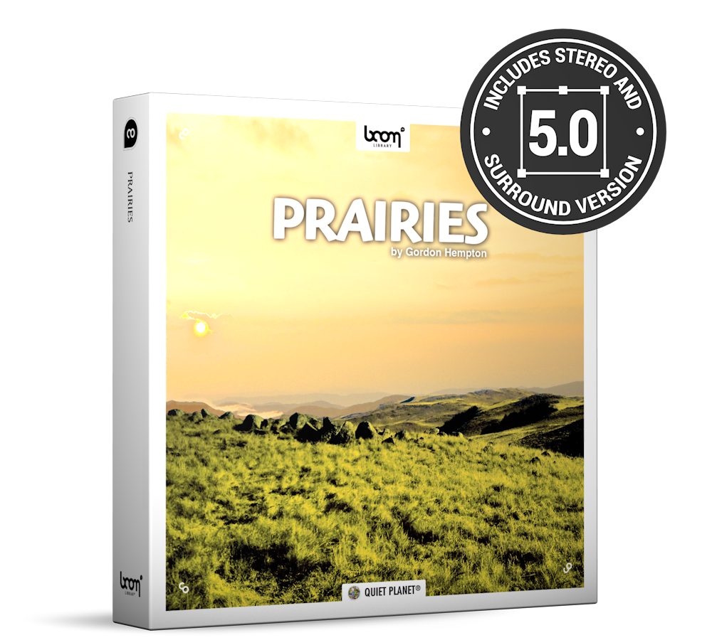 Prairies Nature Ambience Sound Effects Library Product Box