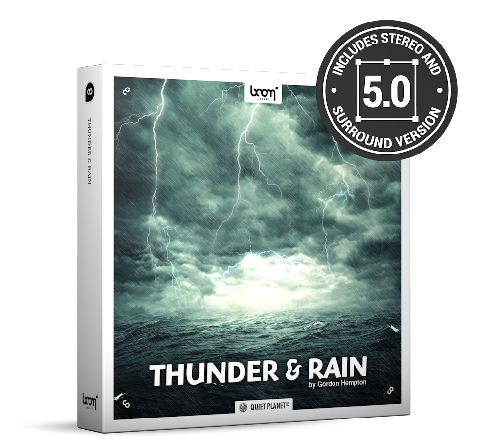 Thunder And Rain Nature Ambience Sound Effects Library Product Box