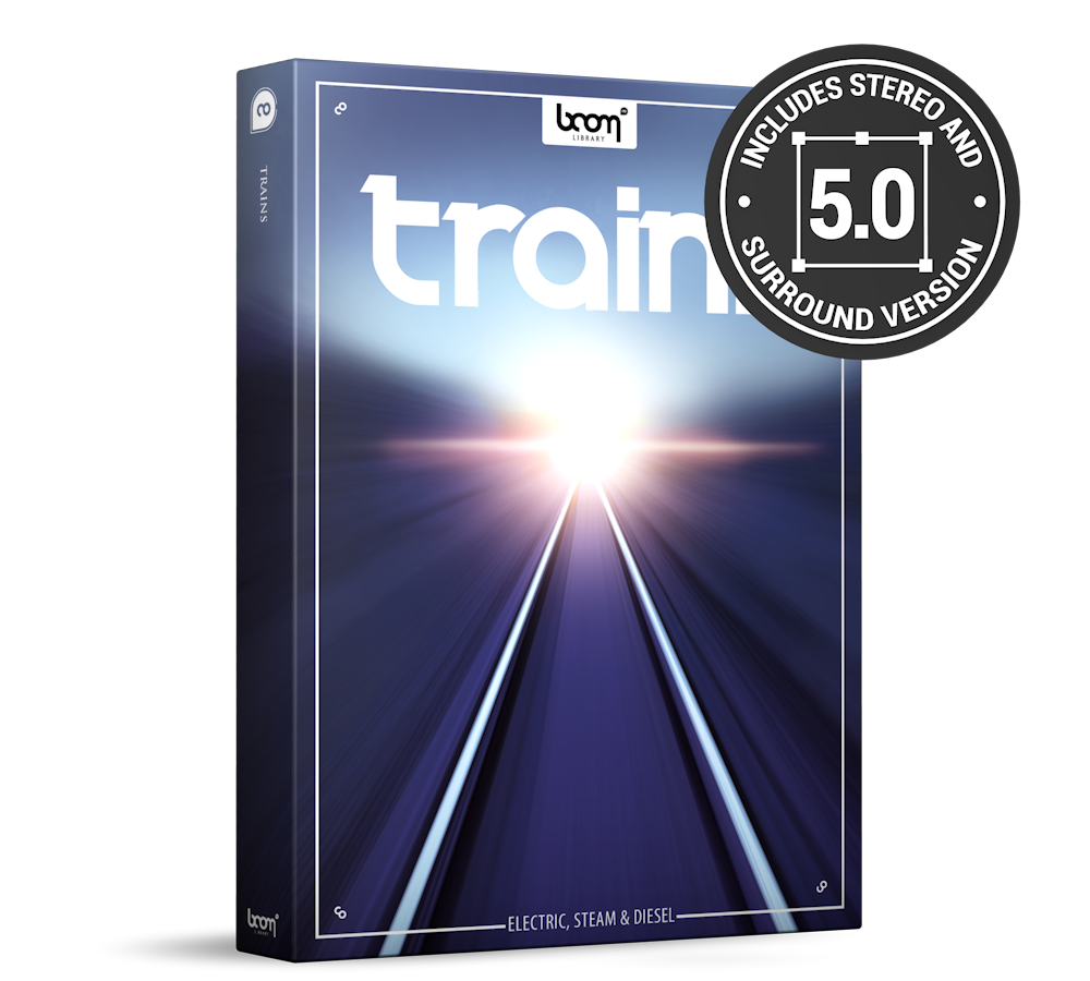 Trains Sound Effects Library Product Box