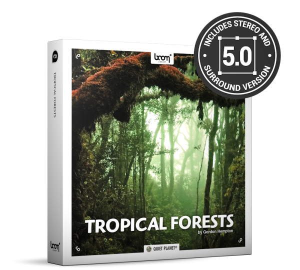 Tropical Forests Nature Ambience Sound Effects Library Product Box