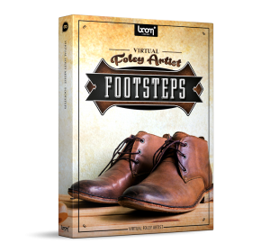 Virtual Foley Artist Footsteps Sound Effects Library Product Box