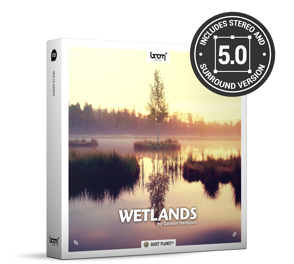 Wetlands Nature Ambience Sound Effects Library Product Box