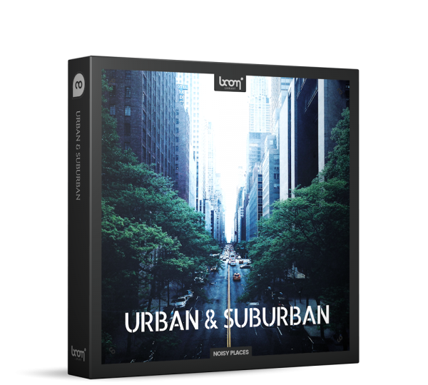 Urban & Suburban Sound Effects by BOOM Library Product Box
