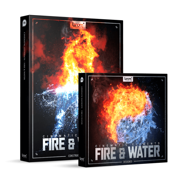 Cinematic Element Fire & Water Product Packshot Bundle by BOOM Library contains Construction Kit and Designed edition