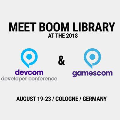 Meet BOOM Library at DEVCOM & GAMESCOM