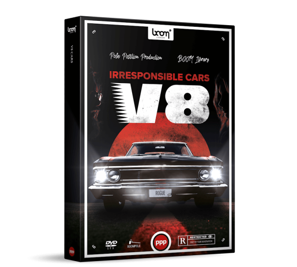 Cars V8 Sound Effects Library Product Box