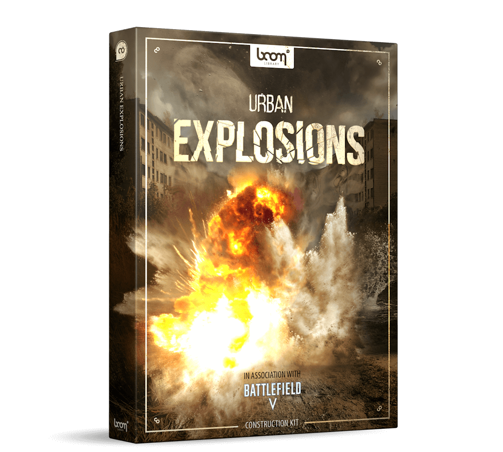 Urban Explosions Sound Effects Product Packshot Construction Kit by BOOM Library