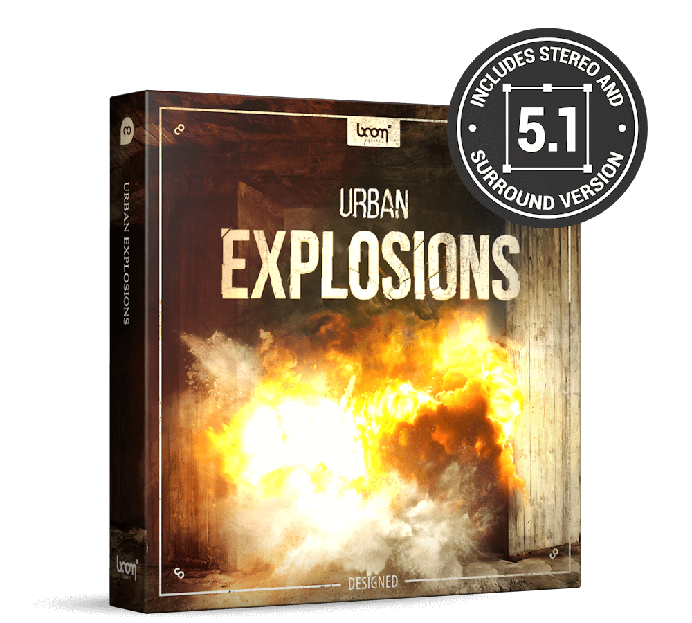 Urban Explosions Sounds Designed by BOOM Library