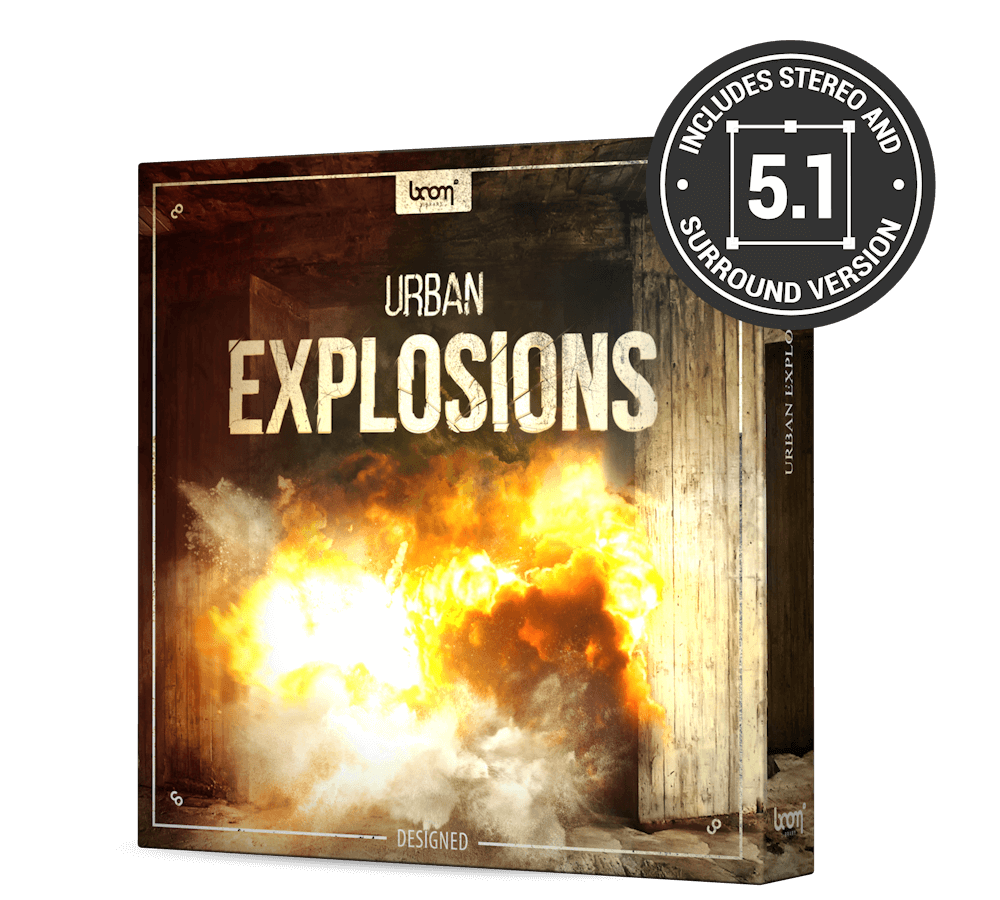 Urban Explosion Sounds Designed by BOOM Library