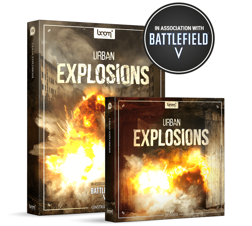Urban Explosions Product Packshot by BOOM Library