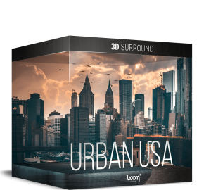 Urban USA 3D Surround Stereo City Ambiances Boom Library Packshot Product Item