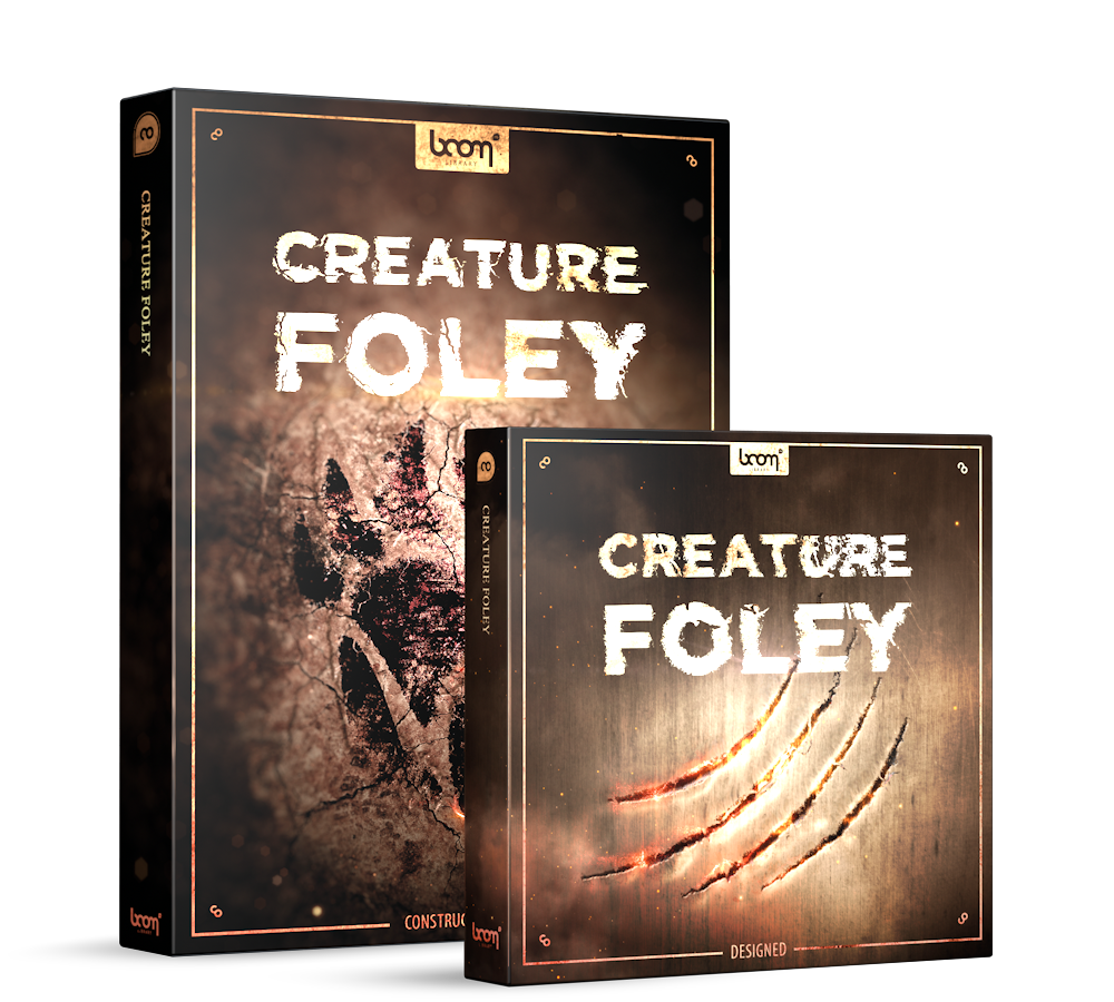Creature Foley Sound Effects by BOOM Library Product Box