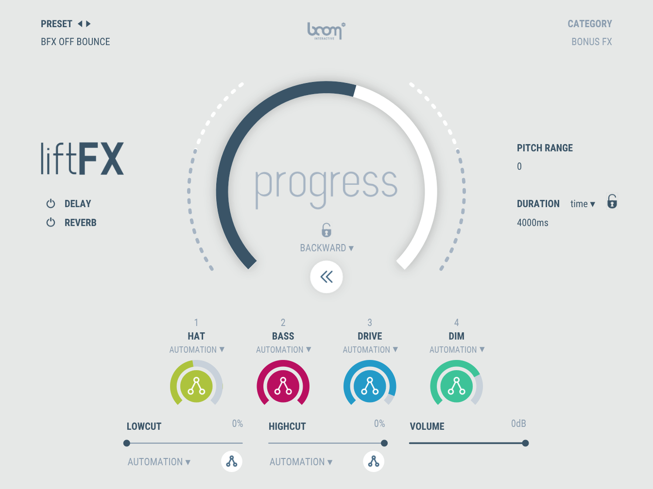 Beat Drop Generator liftFX Product Screenshot progress bar