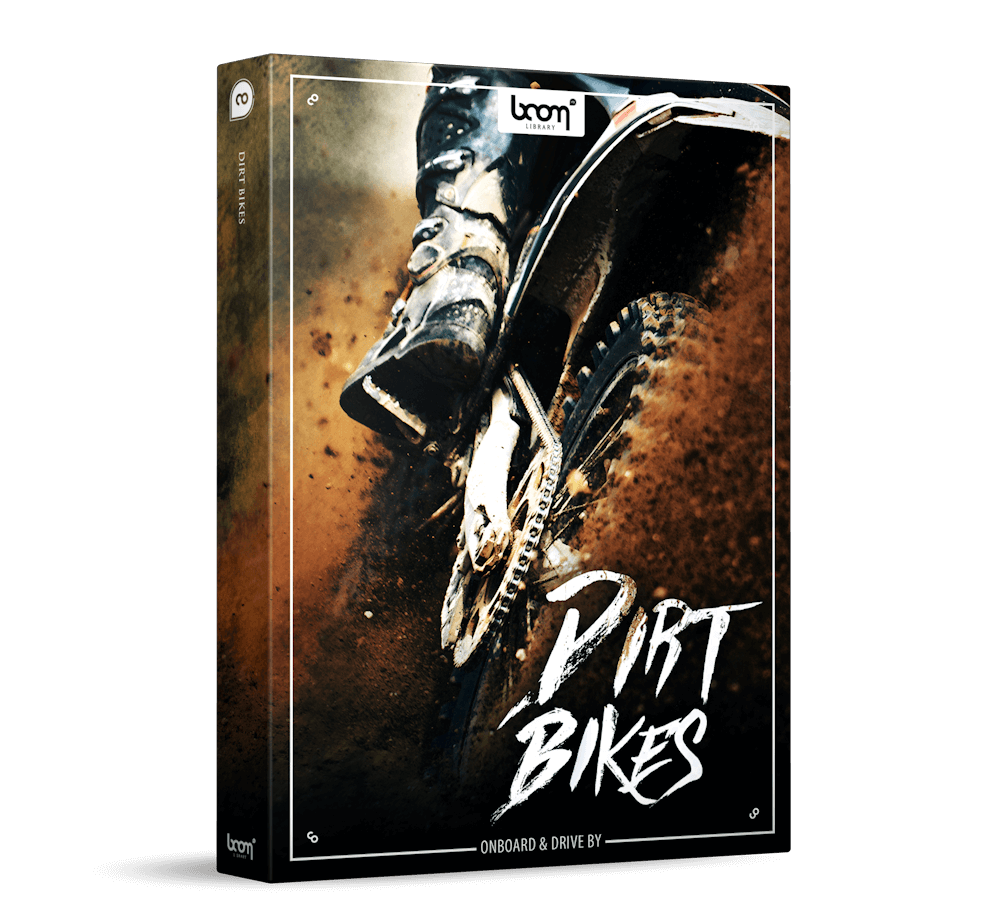 Dirt Bikes SFX Sound Effects by BOOM Library Product Packshot