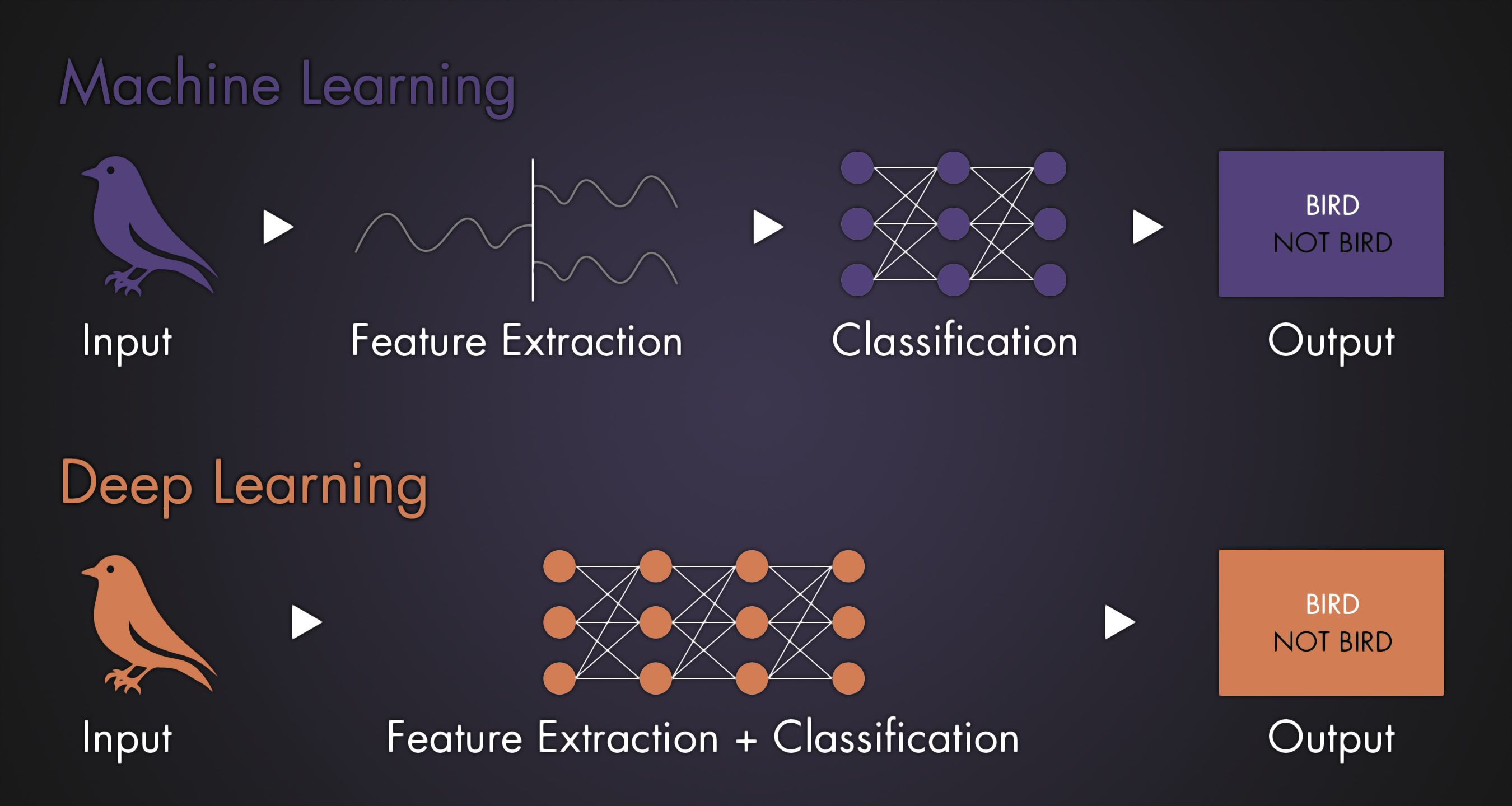 Infographic Machine Learning and Deep Learning