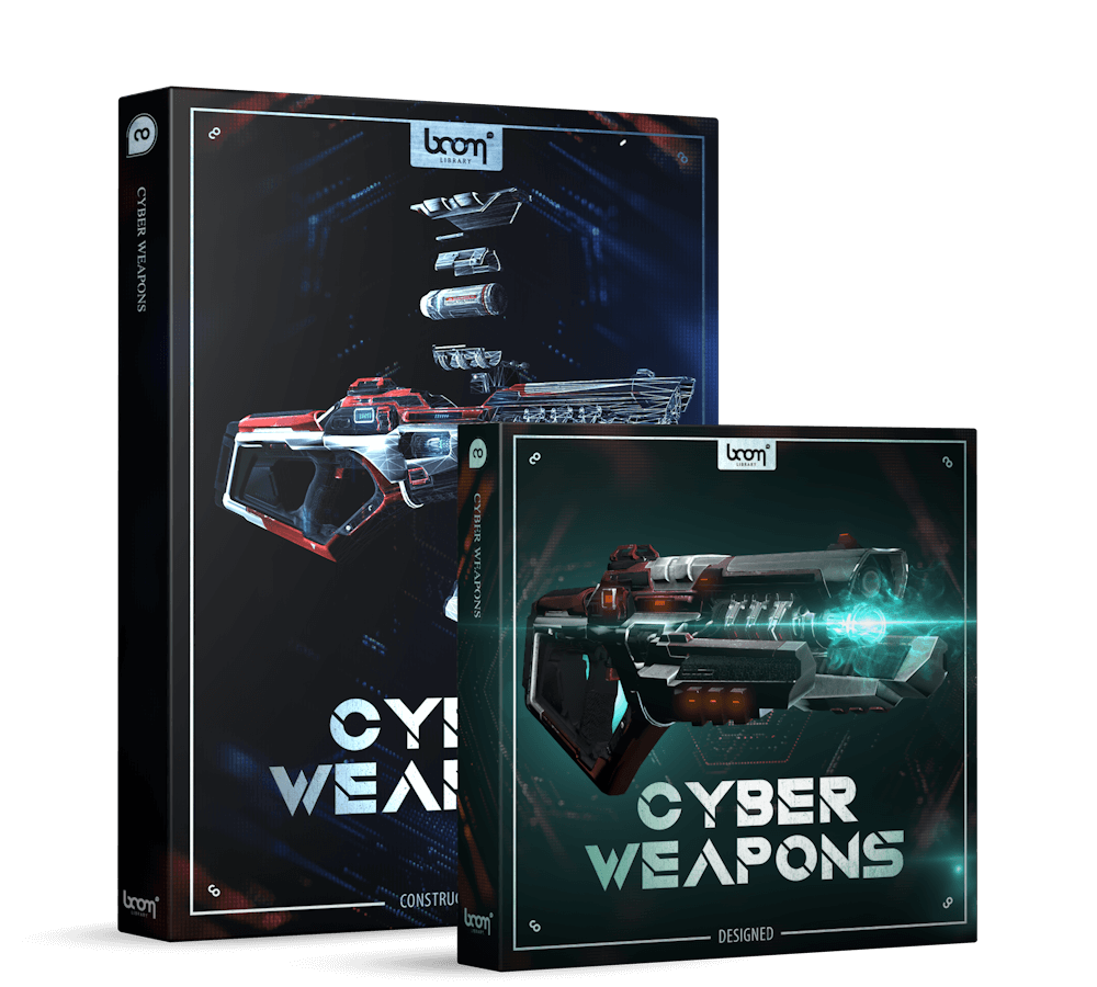 Cyber Weapons Bundle Packshot - Future Weapon Sounds - Boom Library