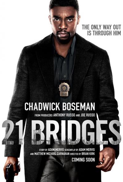 21 bridges, film, movie, trailer, boom library, credit