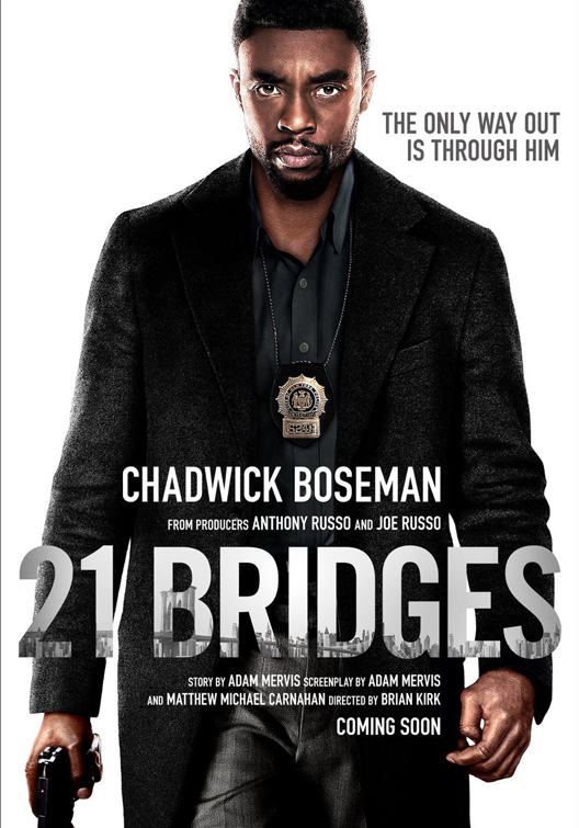 21 bridges, film, movie, trailer, boom library, credit