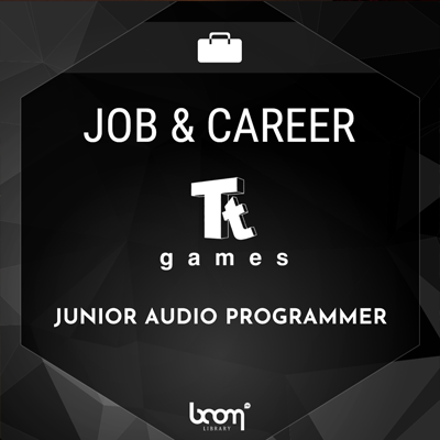 job, audio programmer, boom library. tt games