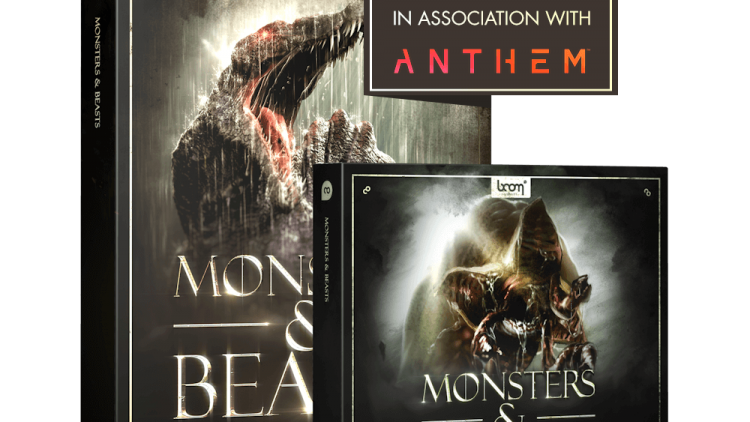 Monsters & Beasts Boom library sound effects creatures zombies evil Product Pack Shot bundle in association with anthem