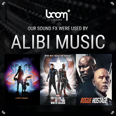 ALIBI MUSIC USES BOOM LIBRARY SOUNDS